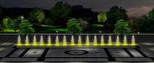 colorful dancing music dry fountain modern landscape art