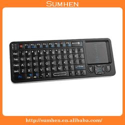Rii Mini I6 2.4G Ultra mini Bluetooth Keyboard with Touchpad IR Remote (BLACK)
