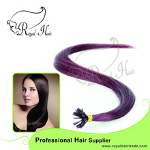 royal hair keratin strick tip prebonded human hair extension,Remy stick I tip hair extension