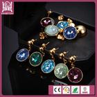 single stone earring designs multi colored stones earrings