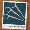 white wrap threader dental floss plastic toothpicks