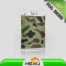drinkware with stainless steel hip flask