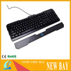 Blue LED Illuminated Backlight Backlit USB Wired Game Gaming Keyboard For PC New