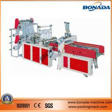 SHXJ-C600/700/800/900 Full Automatic 4 Lines plastic T-shirt bag/plastic vest bag making machine