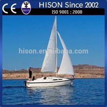 China manufacturing Hison 26ft sail boat catamaran passenger