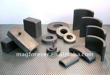 Custom made Strong Permanent Y30 Isotropic Arc Ferrite Magnets for speaker