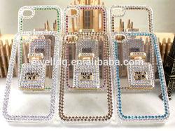 2014 Shenzhen Factory Wholesale Luxury Diamond No. 5 Perfume Bottle Hard Plastic Mobile Phone Case