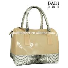 silicone jelly handbag fashion jelly bag plastic bag for woman