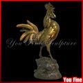 vida tamanho galo fundição de bronze ou latão escultura