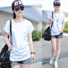 Bamboo Fibre Fabric Ladies' Short Sleeve Fashion plain t shirt