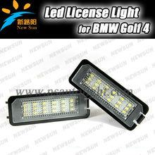 Led car license plate light Xenon White 18SMD LED License Plate Lamp for GOLF 4/EOS/LUPO/NEW BEETLE/PASSAT CC/POLO/PHAETON