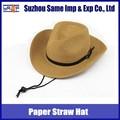 2015 verão mais recente de atacado de papel de palha cowboy chapéus