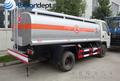 10 m3 aceite disel tanque de almacenamiento de camiones, 10000l utiliza el tanque de combustible para la venta