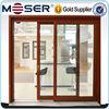 Moser New German style easy sliding wood lift and slide double glazed door