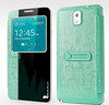 High qualityflip pu leather skin case for galaxy note 2 n7100,protective flip case for note2