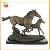 Large Life Size Metal Brass Riding Bronze Horse Statue for Sale