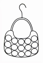 Decorative Coated Metal Scarf Hanger with Holes