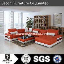 Teak wood sofa set designs european leather sofa set pictures C1188