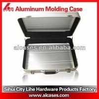 Aluminum alloy siver aluminum laptop case with chromed lock oxidation color