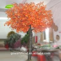 GNW BTR1101-3 Fake Maple Tree autumn decoration red color silk leaf