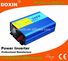 DC AC 500 watt Pure Sine Wave Inverter For Long Time Power Cut