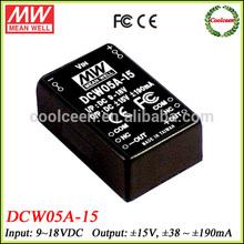 Meanwell DCW05A-15 18v dc to 15v -15v dc converter dual output