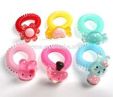 lovely elastic hair ponytail rings