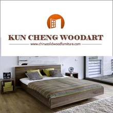 2015 China manufacture teak solid timber wood modern bed designs for hot sale