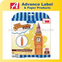 DIY Kids toy Educational toy Landmarks Model Big Ben 3d Puzzle