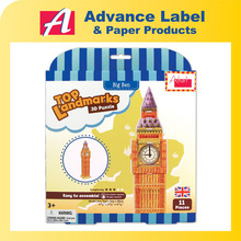 DIY Kids toy Educational toy Landmarks Model Big Ben 3d Puzzle