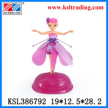 2014 new design beautiful flying doll with light