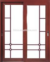 Lasted design aluminum tempered glass sliding door , aluminum trailer doors