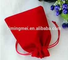Customized Logo Wholesale colorful Eco-Friendly Velvet bag / velvet wine bag for Gift Jewelry Cosmetic