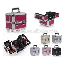 Aluminum professional makeup train case beauty case aluminum cosmetic case, Makeup Storage