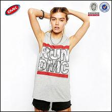 RUN DMC custom print rock hip hop loose tank top wholesale women