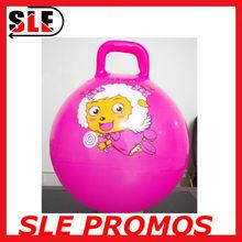PVC free inflatable portable beach ball handle bouncy ball