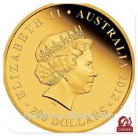 Personalized 2012 Australia 200 dollars Elizabeth fake gold coins
