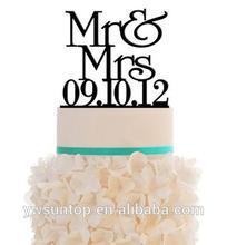 latest Acrylic Wedding Cake Topper - Mr & Mrs Cake decoration