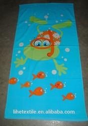 gift home beach salon use 100% cotton velour custom design reactive printed beach towel