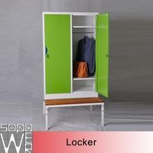 hot sale kd structure padlock 2 door clothing steel locker