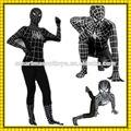 vendita calda traspirante zentai tute vestiti morph adulto costumi di spiderman nero