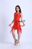 2014 sexy tassel design O neck evening dress blue red short evening dress 80205