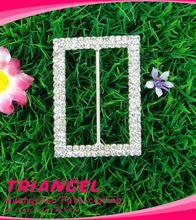 Top Quality Rectangle Small Crystal Wedding Rhinestone Buckles Wholesale