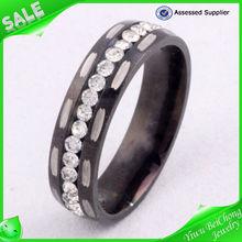 Wedding ring diamond rose gold ring 316l stainless steel jewelry men diamond ring