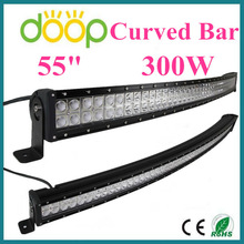 Super Bright 55 inch 300W LED Bar Light for ATV, UTV, SUV, Jeeps, Trucks, Tractors, Race Cars, 12v 24v led light bar