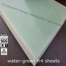 Thermal insulation aqua green g10 sheet China fr4 fireproof insulation board manufacturer