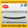 Hight quality cree chip 50'' 20400LM 240w led roof light bar