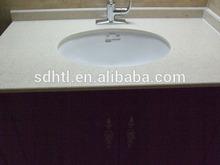Bath Quartz Vanity Tops with back splash for best quality
