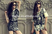 short sleeve fashion lady sublimation printing t shirts