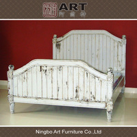 Antique wood furniture european style bed